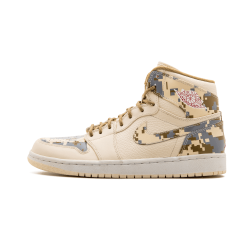 Air Jordan 1 High Digi Camo Natural G Red Camo Silver