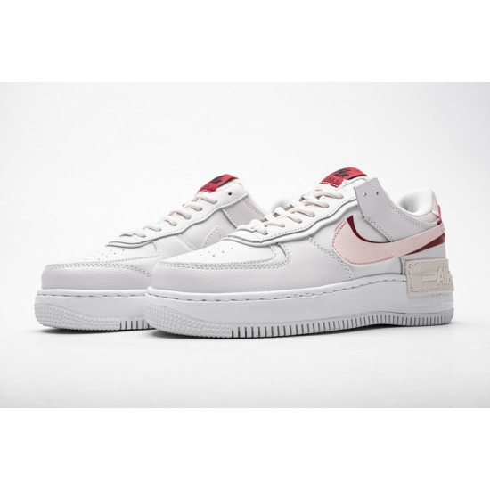 Nike Air Force 1 Shadow White Red