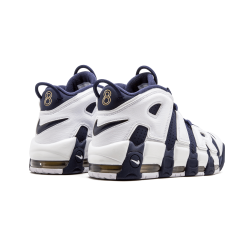 Nike Air More Uptempo GS Olympic White Mid Nvy-Mtllc Gld-Unvrst