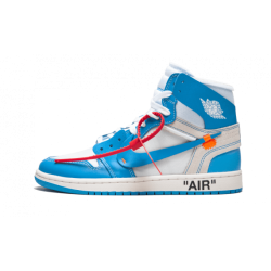 OFF WHITE x Air Jordan 1 NRG Powder Blue