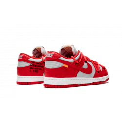 OFF WHITE x Nike Dunk Low OFF WHITE University Red